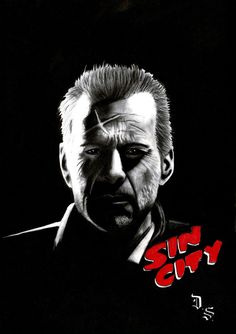 Diego Septiembre - Original Charcoal And Graphite Drawing - Detective John Hartigan - Sin City - W.B. Badass Movie, Epic Movie, Hero Movie, Cinema Posters, Film Posters, Sin City Comic, Frank Miller Sin City, Anthology Film, Geek Movies