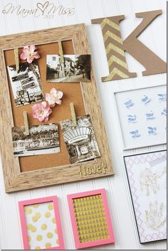 Wall collage ideas for teens products 29 ideas for 2019 Diy Wall Art, Diy Wall Decor, Framed Wall Art, Wall Collage, Frames On Wall, Collage Ideas, Nautical Theme Bedrooms, Wall Stickers Baby Boy, Glitter Projects