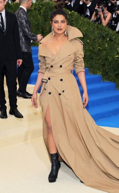 Priyanka Chopra from Met Gala 2017: Best Dressed Stars A trench coat with a train? Priyanka pulled out all the stops in this Ralph Lauren number and we LOVE it.