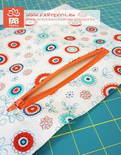 cipzáros zseb készítése how to make a zipper pocket Sewing Patterns, Embroidery, Pocket, Tutorials, Zipper, Bags, Ideas, Handbags, Needlepoint