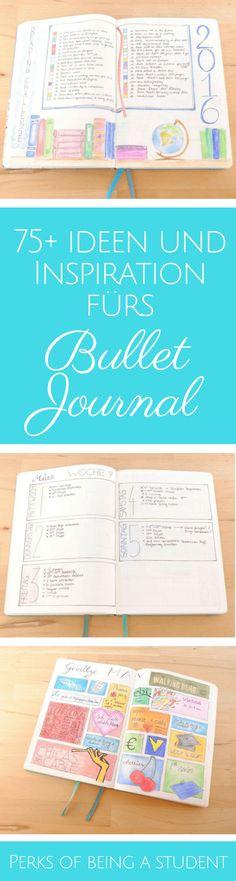 mehr als 75 Ideen für dein Bullet Journal - Seiten fürs Bullet Journal, Ideen und Inspiration #perksofbeingastudent