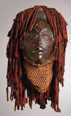 Chokwe Female Mask (Mwano Pwo), Chokwe People, Angola, Democratic Republic of the Congo, Zambia.