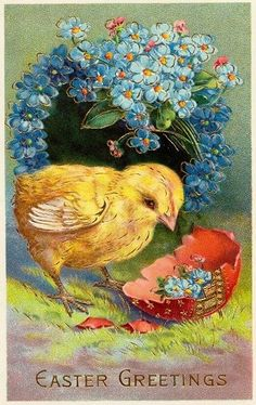 My Vintage Studio: Holiday easter images Easter Greeting Cards, Vintage Greeting Cards, Vintage Postcards, Easter Art, Easter Crafts, Vintage Easter, Vintage Holiday, Diy Ostern, Easter Parade