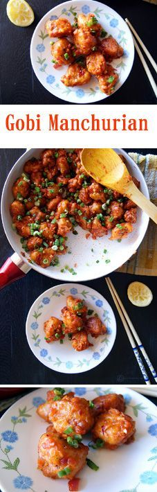 A super delicious Indian appetizer. The garlicky flavor, crispiness from the fried cauliflower, sweetness from the ketchup, tanginess from the lemon, heat from the red chilli flakes and saltiness from the soy sauce; brings in an explosion of flavors in your mouth. #IndianFoodRecipesHealthly