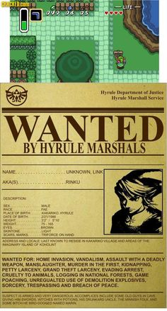 Link the Great Menace!