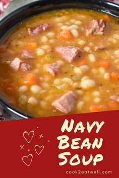 Bean Soup Recipes, Easy Casserole Recipes, Chili Recipes, Grilling Recipes, Cooking Recipes, Navy Bean Soup, Soup Cleanse, Chili Soup, Smoked Ham