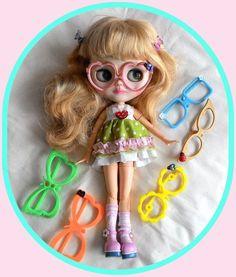 6 piece Blythe doll foldable eyeglasses