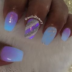 Christmas glow in the dark acrylic nails
