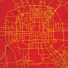 Beijing Map Print 12x12 now featured on Fab.