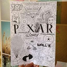 Disney and pixar drawings Disney Drawings Sketches, Cute Disney Drawings, Cute Drawings, Drawing Sketches, Sketching, Disney Doodles, Lyric Drawings, Tumblr Drawings, Disney Collage