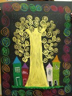 Klimt - Tree of life Gustav Klimt, Klimt Art, Tree Of Life Art, Tree Art, 5th Grade Art, Scratch Art, Ecole Art, Art N Craft, Art Lessons Elementary
