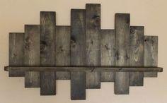 Rustic offset shelf offset shelves wooden shelves shabby