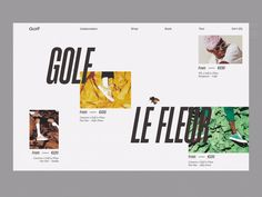 Golf Le Fleur designed by Vitaliy Savinovskiy for Geex Arts. the global community for designers and creative professionals. Landing Page Inspiration, Website Design Inspiration, Web Design Inspiration, Creative Inspiration, Website Design Layout, Web Layout, Layout Design, Banner Design, Mise En Page Web