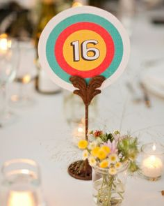 Archery-inspired table numbers - with Independent Adventure www.independentadventure.co.uk