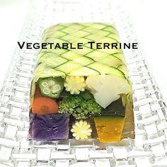 夏野菜のテリーヌ 編み込みズッキーニ  vegetable terrine