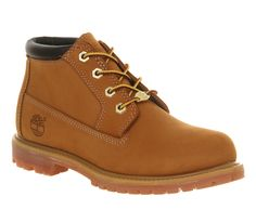 Timberland Nellie Chukka Double Waterproof Boots in Wheat Nubuck,