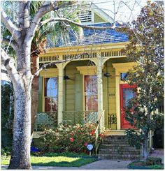 "New Orleans . The term ""shotgun house"" referred to the fact that one room led directly into the next from the front to the back"