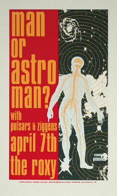 Man or Astroman Concert Poster by Mike King - Mike King - Gallery