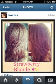 """Strawberry blonde  with a short layered cut. Follow me on Instagram """"LUVURHAIR"""""""