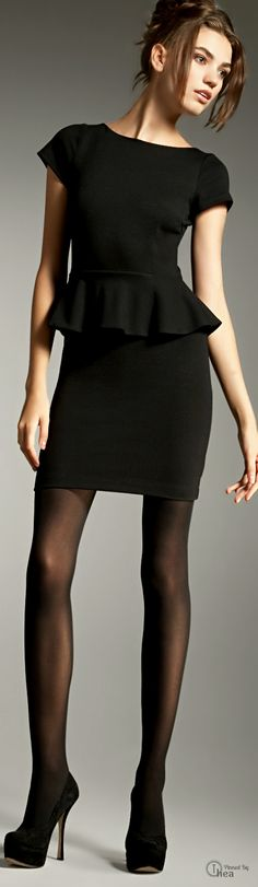 Alice + Olivia ● Black Peplum Dress