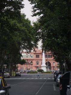 Casa Rosada vista desde Avenida de Mayo