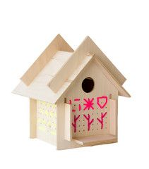 Cross Stitch Bird House - Treehouse Kid + Craft