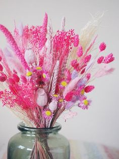 The Pink Wafer Dried Baked Blossom Bunch – The Happy Blossoms Dried Flower Bouquet, Dried Flowers, Flower Bouquets, Dried Flower Arrangements, Bunch Of Flowers, Colorful Flowers, Flower Making, Flower Decorations, Bright Pink
