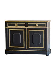 Neoclassical Louis Philippe Style Painted and Gilded Buffet, France, c. 1875