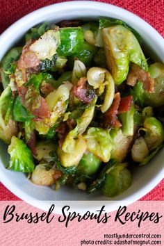 Brussel sprouts are so fun to cook because they take on so much flavor in the process! Check out these easy, delicious brussel sprouts recipes! Brussel Sprouts Recipe Oven, Sauteed Brussel Sprouts, Cooking Brussel Sprouts, Side Dishes Easy, Vegetable Side Dishes, Side Dish Recipes, Main Dishes, Roasted Bacon, Sprout Recipes