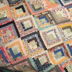 Vintage Log Cabin quilt I own.