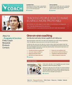 Business Coach Website Templates by Modlin