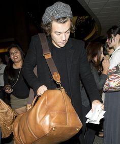 Harry Styles. Ooh, he got a new beanie.