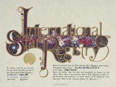 Edgar Amrein - Leo - Name a Star : Buy a Star : International Star Registry : Order@ starregistry.com