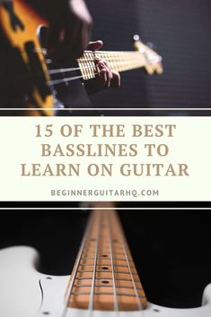 At BeginnerGuitarHQ, we aim to help you learn to become a great guitarist. However, by playing guitar you'll pick up a general understanding of how to transfer… Bass Guitar Scales, Learn Guitar Chords, Guitar Chords Beginner, Easy Guitar Songs, Guitar Chords For Songs, Bass Guitar Lessons, Guitar Lessons For Beginners, Guitar Tabs, Bass Guitars