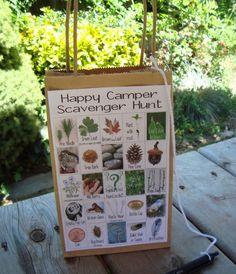 Great way to get kids invovled in nature. Send them on a nature scavenger hunt! They can do this on the playground or take it home and bring...