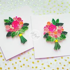 Quilling Birthday Cards, Paper Quilling Cards, Handmade Birthday Cards, Paper Cards, Greeting Cards Handmade, Quilling Work, Quilling Paper Craft, Paper Crafting, Paper Quilling For Beginners
