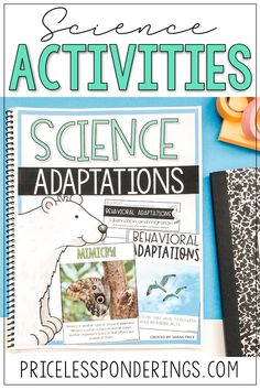 Teach your elementary students all about physical adaptations and behavioral adaptations with these low-prep and easy to print worksheets. Click the picture to learn more. Physical Adaptations, Animal Adaptations, Science Notebooks, Interactive Notebooks, Science Resources, Science Activities, First Grade Science, Reading Passages, Elementary Science