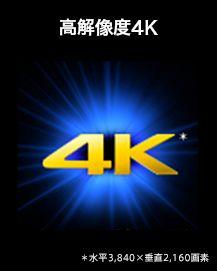 高解像度4K