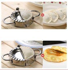 Set Of Dumpling Mould – GenieMania Ravioli, Cool Kitchen Gadgets, Cool Kitchens, Dumpling Skin, How To Make Dumplings, Mini Pies, Stainless Steel Material, Empanadas, Safe Food