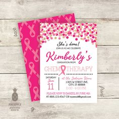 Chemotherapy Cancer Confetti Sparkle Graduation by PPDesignCo