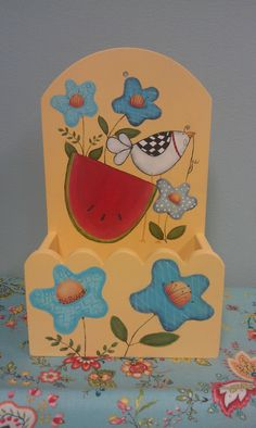 Recipe Box using Sharas Funky Folk Art | The Artists Club