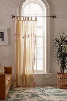 Cilla Tassel Curtain - Urban Outfitters