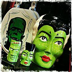 Bride of Frankenstein Cookie Jar , Salt & Pepper Shakers. Frankie Toilet Set...