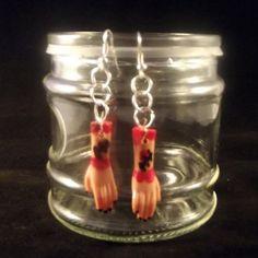 Barbie Doll Hand Earrings, Murder Earrings, Upcycled Doll Part Earrings, Hand Earrings, Zombie Earrings, Anatomical Earrings, Free Shipping