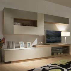 63 veces he visto estas bellas muebles minimalistas. Living Room Wall Units, Living Room Tv Unit Designs, Home Living Room, Interior Design Living Room, Living Room Decor, Family Room Design, Home Room Design, Muebles Living, Furniture Design