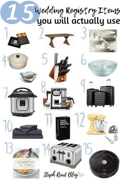 Unsure of what to add to your registry? Check out this list of 15 wedding registry items that you will actually use! These are 15 items that you will surely get the most use out of, I know I have! Bridal Shower Registry, Wedding Registry Checklist, Best Wedding Registry, Bridal Shower Gifts, Wedding Checklists, Wedding Beauty, Dream Wedding, Perfect Wedding, Wedding
