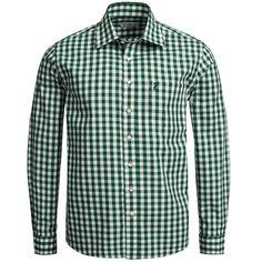 Trachtenhemd Regular Fit in Grün von Almsach