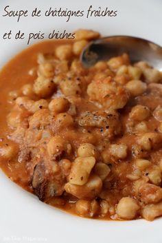 soupe de châtaigne et pois chiche (vegan)