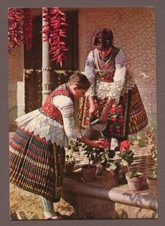 Sióagárdi népviselet - Hungary Textiles, Textile Patterns, European Costumes, Tribal Dress, Folk Dance, Wedding Costumes, Folk Costume, First Nations, Traditional Dresses