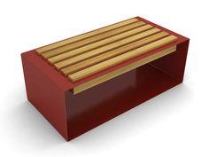 Public bench / contemporary / steel / exotic wood BOCU by Gibillero design CITYSI srl